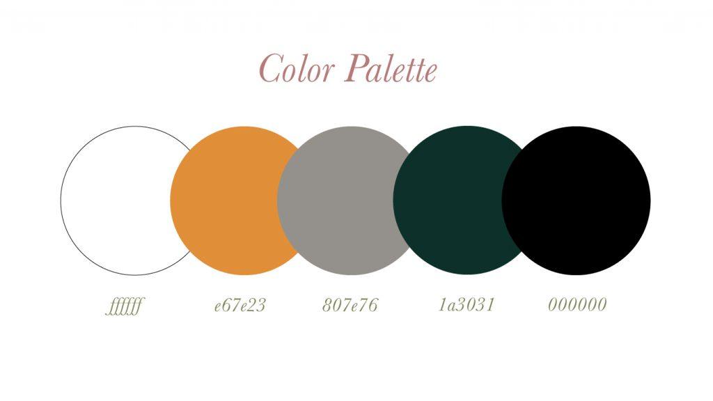 Galens color palette